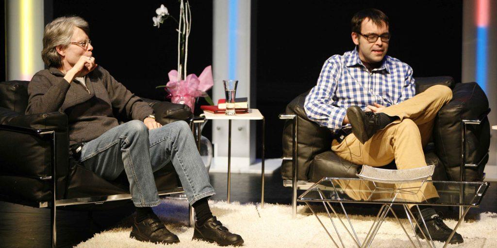 Stephen (li) und Owen King (re) auf einer gemeinsamen Lesung